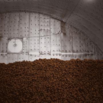 Картофелехранилище в ангаре