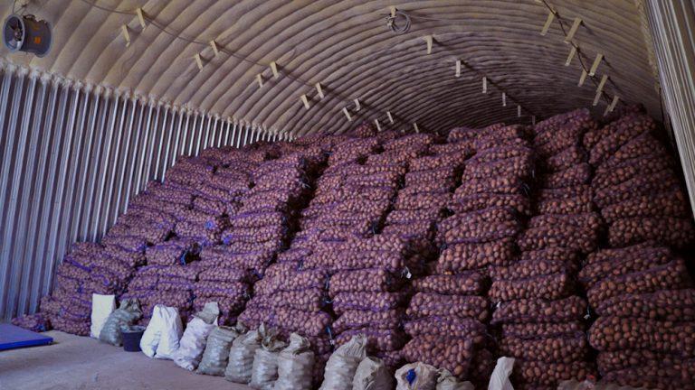 Утепленный ангар стал картофелехранилищем перфекциониста