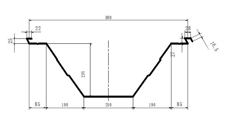Схема V-образного профиля