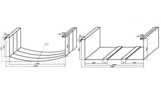 Схема прямоугольного профиля бескаркасного ангара