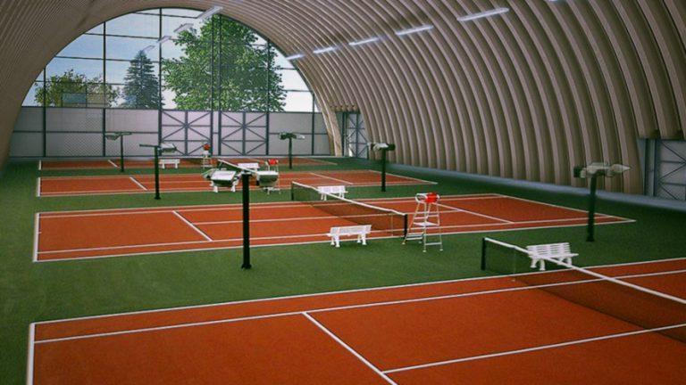 Бесконечные теннисисты и их корты в очередной раз оказались в ангаре