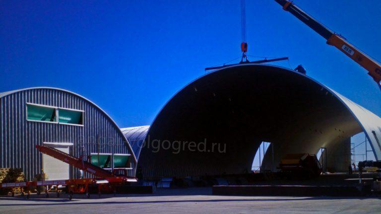 Строительство ангара в Волгограде